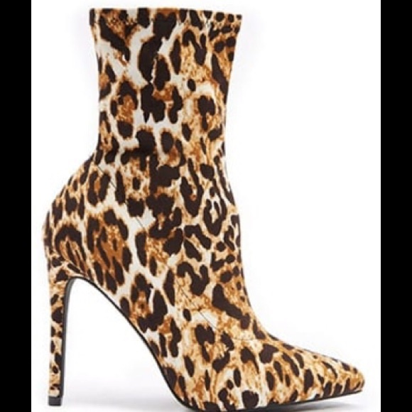 forever 21 leopard booties